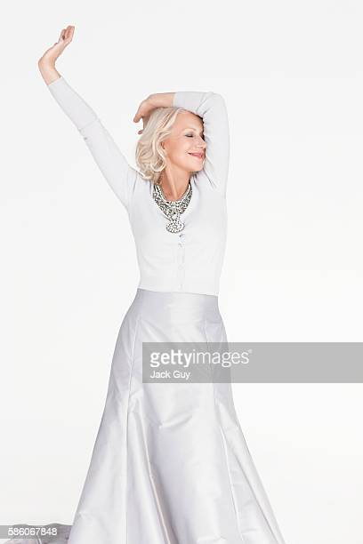 Actress Helen Mirren is photographed for Woman Home Magazine on February 14 2012 in Los Angeles California