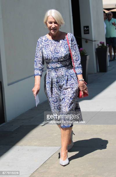 Actress Helen Mirren is seen on May 2 2017 in Los Angeles California