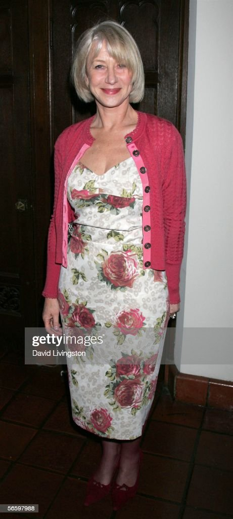Actress Helen Mirren poses at HBO's Annual Pre-Golden Globe Reception at Chateau Marmont on January 14, 2006 in Los Angeles, California.