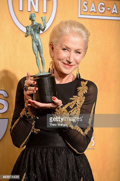 Actress Helen Mirren poses for a portrait during 20th Annual Screen Actors Guild Awards at The Shrine Auditorium on January 18, 2014 in Los Angeles,...