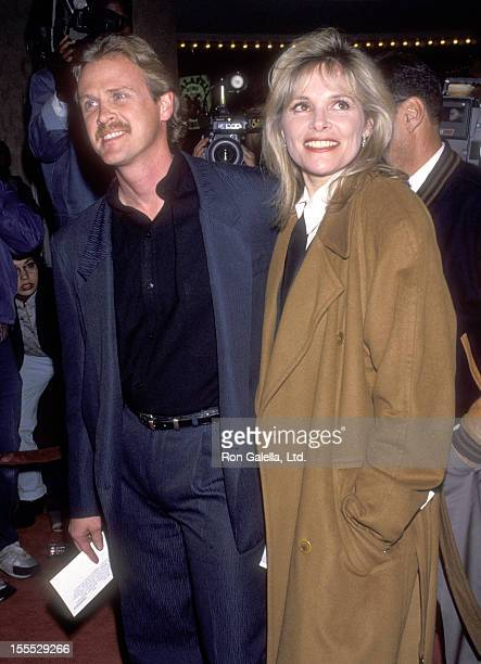 Actress Helen Shaver and husband Steve Smith attend the Sommersby Westwood Premiere on January 2 1993 at Mann Bruin Theatre in Westwood California