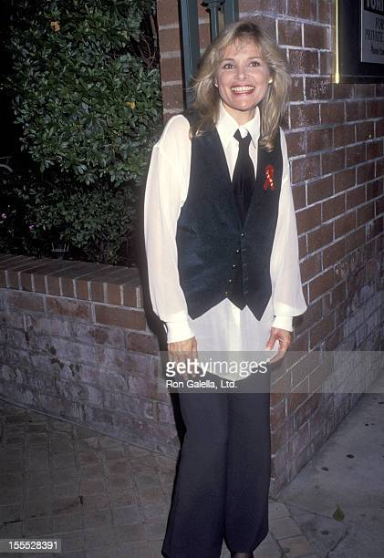 Actress Helen Shaver attends the Jake's Women Opening Night Party on April 15 1993 at Columbia Bar Grill in Hollywood California