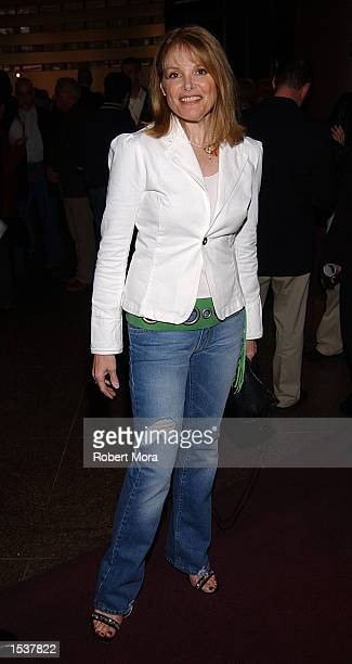 Actress Helen Shaver attends the world premiere screening of Showtime's Due East May 1 2002 in Los Angeles CA