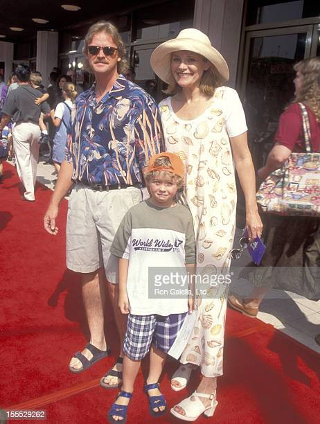 Actress Helen Shaver husband Steve Smith and son Mackenzie Smith attend the Mighty Morphin Power Rangers The Movie Westwood Premiere on June 24 1995...