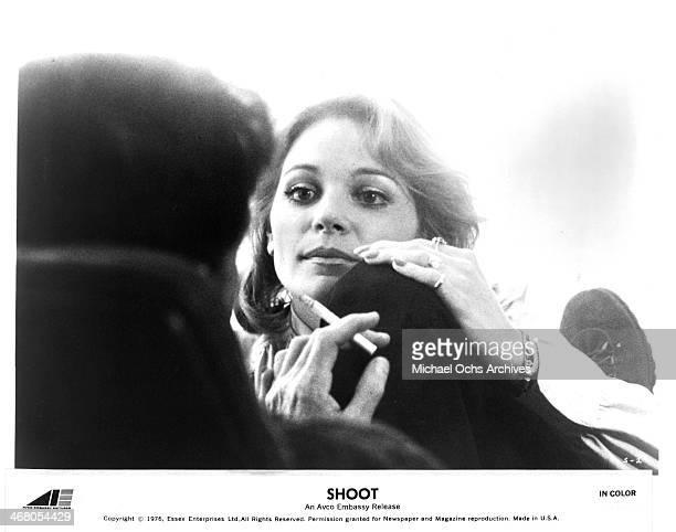 Actress Helen Shaver on set of the movie Shoot circa 1976