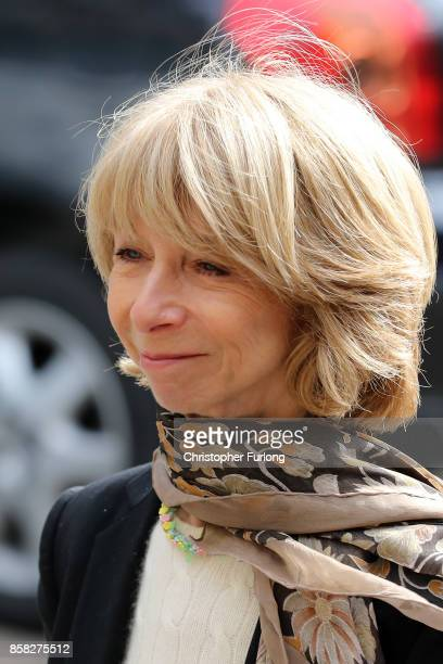 Actress Helen Worth arrives at Salford Cathedral on October 6, 2017 in Salford, England. Actress Liz Dawn who died aged 77, played Vera Duckworth in...