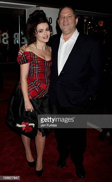 Actress Helena Bonham Carter and Harvey Weinstein arrive for American Express Gala Screening of 'The King's Speech' during the 54th BFI London Film...