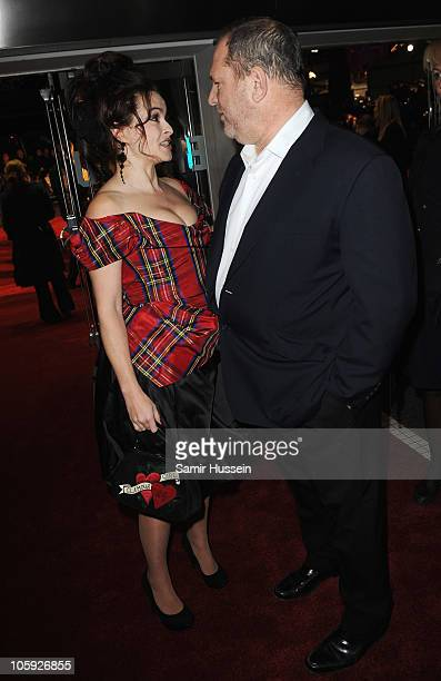 Actress Helena Bonham Carter and Harvey Weinstein attend the American Express Gala Screening of 'The King's Speech' during the 54th BFI London Film...