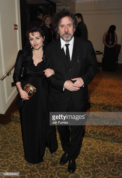 Actress Helena Bonham Carter and Tim Burton attend the official after party for Orange British Academy Film Awards at Grosvenor House on February 13...