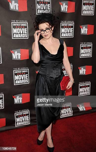 Actress Helena Bonham Carter arrives at the 16th annual Critics' Choice Movie Awards at the Hollywood Palladium on January 14 2011 in Los Angeles...