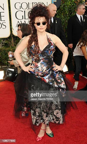 Actress Helena Bonham Carter arrives at the 68th Annual Golden Globe Awards held at The Beverly Hilton hotel on January 16, 2011 in Beverly Hills,...
