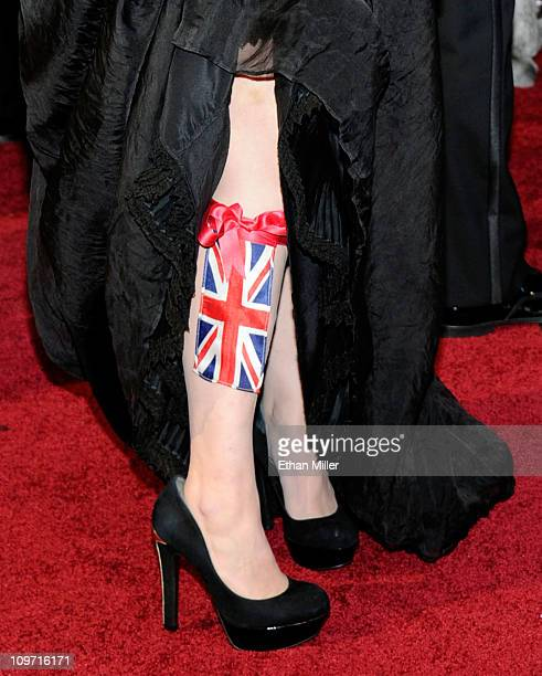 Actress Helena Bonham Carter arrives at the 83rd Annual Academy Awards at the Kodak Theatre February 27 2011 in Hollywood California