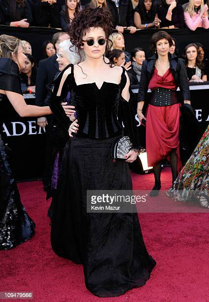 Actress Helena Bonham Carter arrives at the 83rd Annual Academy Awards held at the Kodak Theatre on February 27 2011 in Hollywood California