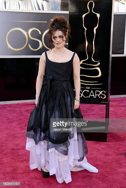 Actress Helena Bonham Carter arrives at the Oscars at Hollywood Highland Center on February 24 2013 in Hollywood California