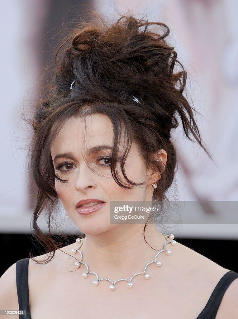 Actress Helena Bonham Carter arrives at the Oscars at Hollywood & Highland Center on February 24, 2013 in Hollywood, California.