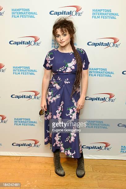Actress Helena Bonham Carter attends the 21st Annual Hamptons International Film Festival on October 12 2013 in East Hampton New York