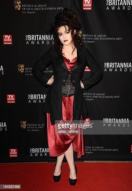 Actress Helena Bonham Carter attends the BAFTA Los Angeles Britannia Awards at The Beverly Hilton hotel on November 30, 2011 in Beverly Hills,...