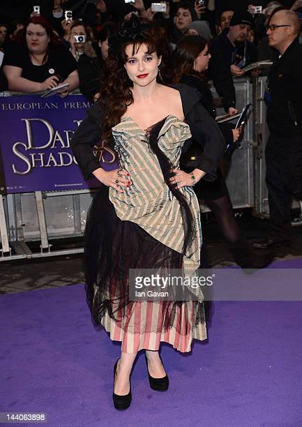 Actress Helena Bonham Carter attends the European premiere of Dark Shadows at Empire Leicester Square on May 9 2012 in London England