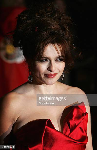 Actress Helena Bonham Carter attends the European Premiere of 'Sweeney Todd' at the Odeon Leicester Square on January 10, 2008 in London, England.