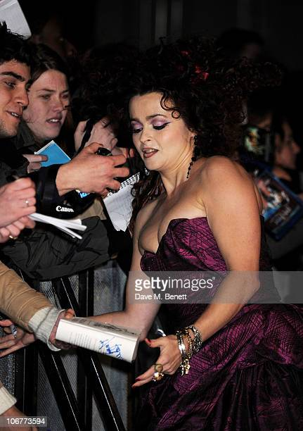Actress Helena Bonham Carter attends the World Premiere of Harry Potter And The Deathly Hallows Part 1 at Odeon Leicester Square on November 11 2010...