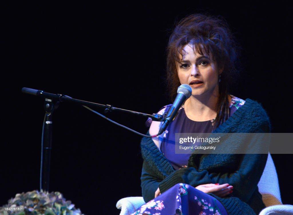 Actress Helena Bonham Carter speaks at the 21st Annual Hamptons International Film Festival on October 12, 2013 in East Hampton, New York.