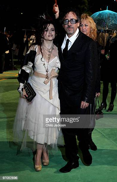Actress Helena BonhamCarter and director husband Tim Burton attend the Royal World Premiere of 'Alice in Wonderland' at the Odeon Leicester Square on...