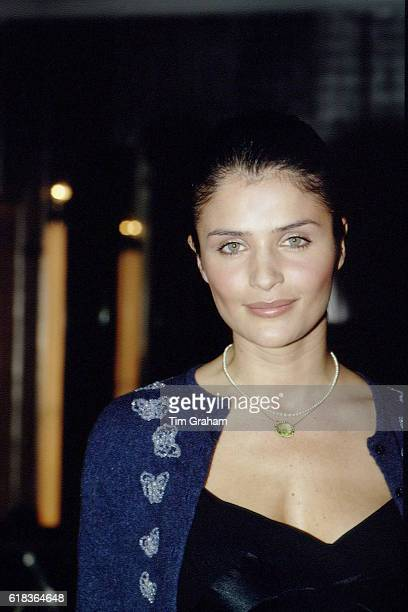 Actress Helena Christensen at celebrity charity Tusk Force Tiger Ragtime Ball in London