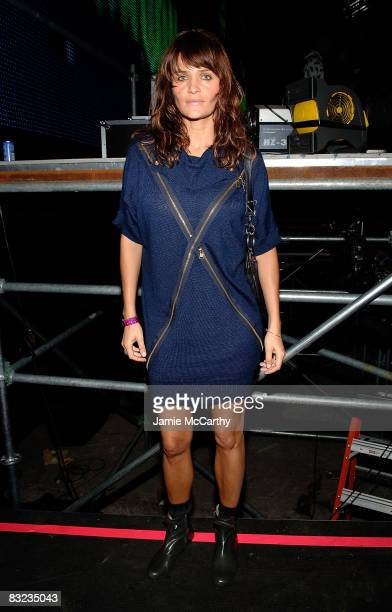 Actress Helena Christensen attends the Diesel xXx Rock Roll Circus at Pier 3 on October 11 2008 in Brooklyn New York