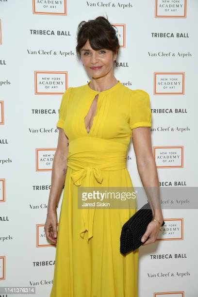Actress Helena Christensen attends Tribeca Ball Benefiting New York Academy Of Art at New York Academy of Art on April 08, 2019 in New York City.