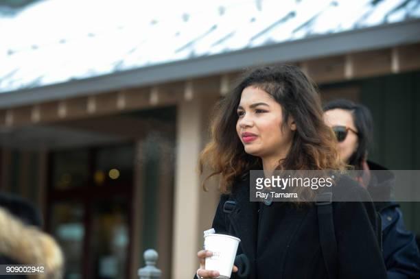 Actress Helena Howard walks in Park City on January 22 2018 in Park City Utah