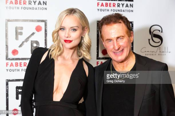 Actress Helena Mattsson and John Jay A Faber attend the Charmaine Blake Presents The Faber Ryan Youth Foundation Gala at Live House Hollywood on...