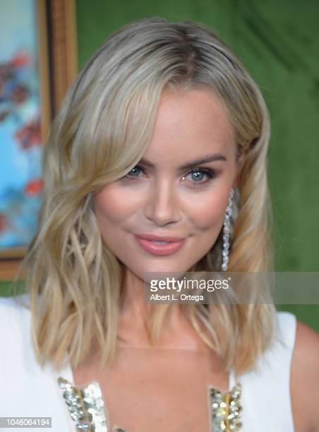 Actress Helena Mattsson arrives for the HBO Films' My Dinner With Herve Premiere held at Paramount Studios on October 4 2018 in Hollywood California