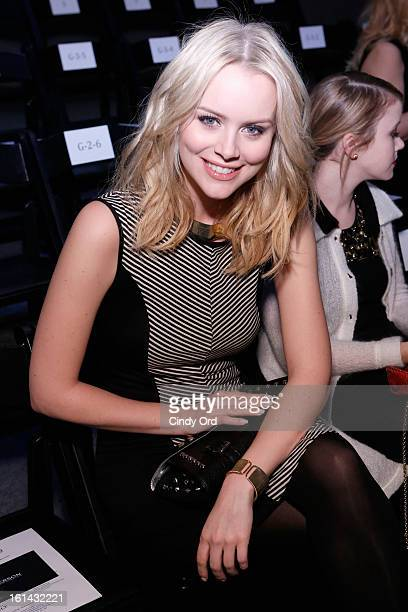 Actress Helena Mattsson attends the Emerson Fall 2013 fashion show during MercedesBenz Fashion Week at The Studio at Lincoln Center on February 10...