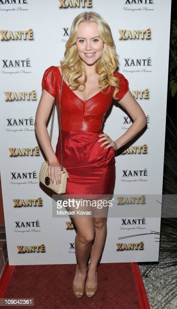 Actress Helena Mattsson attends the Grammy Xante Party with Jonas Hallberg and Ina Soltani at Private Residence on February 12 2011 in Pacific...