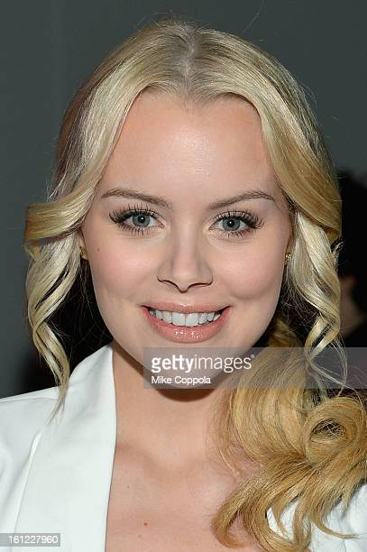 Actress Helena Mattsson attends the Mara Hoffman Fall 2013 fashion show during MercedesBenz Fashion Week at The Stage at Lincoln Center on February 9...