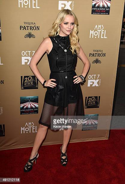 Actress Helena Mattsson attends the premiere screening of FX's American Horror Story Hotel at Regal Cinemas LA Live on October 3 2015 in Los Angeles...