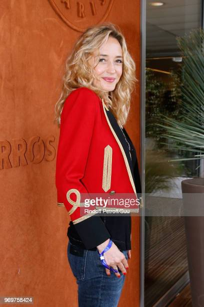 Actress Helene de Fougerolles attends the 2018 French Open - Day Thirteen at Roland Garros on June 8, 2018 in Paris, France.