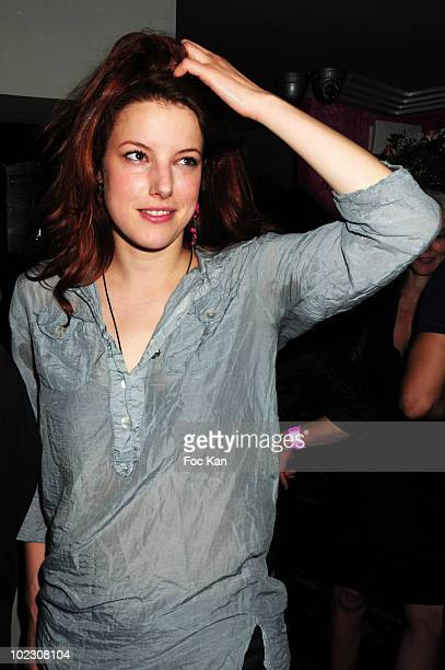 Actress Helene Degy attends the Bordeaux Rose Wines Pink Party at the Lup Club on June 10 2010 in Paris France