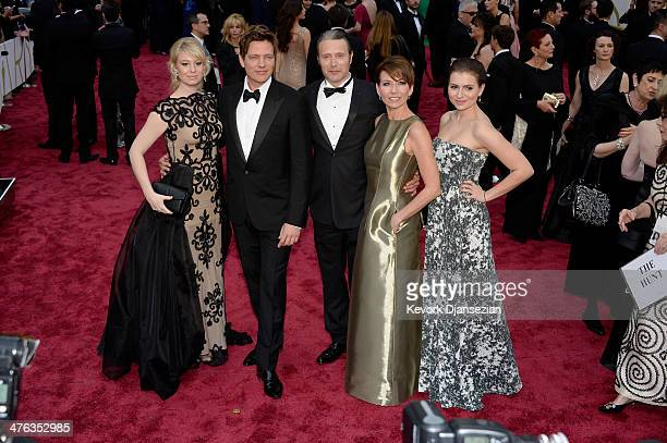 Actress Helene Reingaard Neumann Director Thomas Vinterberg actor Mads Mikkelsen and guests attend the Oscars held at Hollywood Highland Center on...