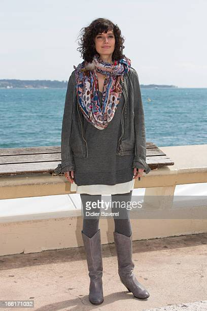 Actress Helene Seuzaret poses during a photocall for the TV Series 'No Limit' at MIP TV 2013 on April 9 2013 in Cannes France