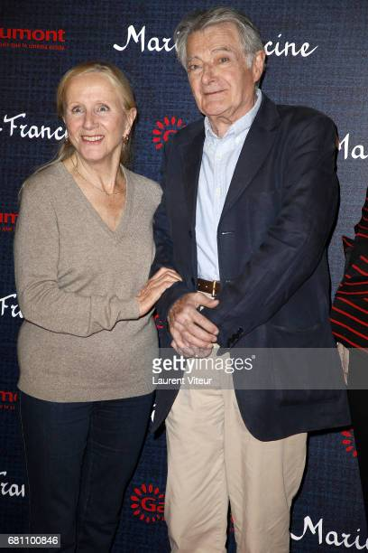 Actress Helene Vincent and Actor Philippe Laudenbach attend MarieFrancine Paris Premiere at Cinema l'Arlequin on May 9 2017 in Paris France