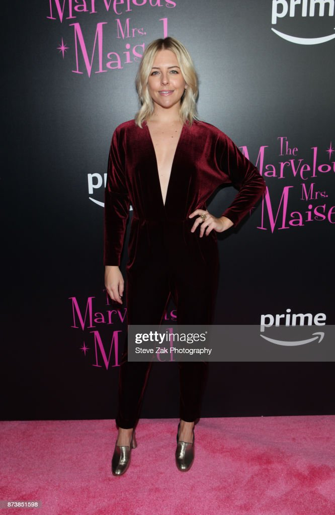 Actress Helene Yorke attends 'The Marvelous Mrs. Maisel' New York Premiere at Village East Cinema on November 13, 2017 in New York City.