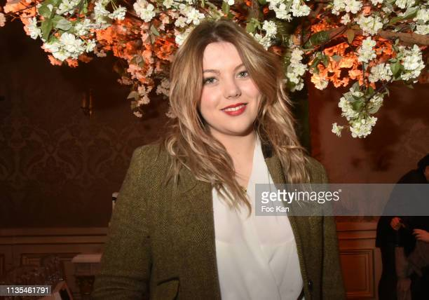 Actress Heloise Martin attends the Stevens Ishay Fashion Show at 3 avenue Emile Acolas on March 12, 2019 in Paris, France.