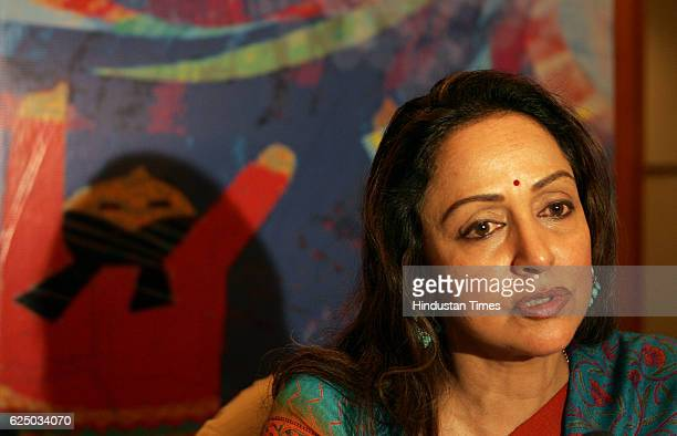 MP Actress Hema Malani announcing the 'Juhu festival' during the press conference in Mumbai on Tuesday The festival will be held on 19Jan to 22Jan