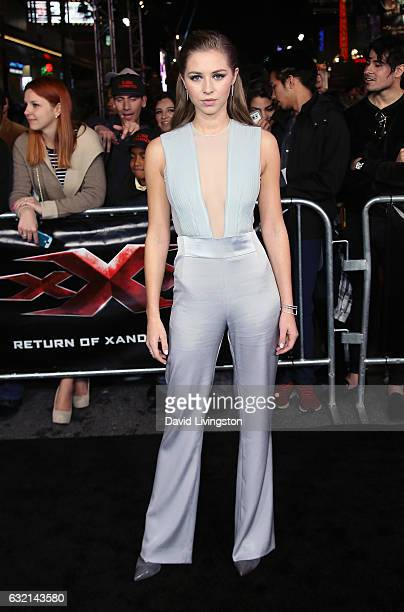 Actress Hermione Corfield attends the premiere of Paramount Pictures' xXx Return of Xander Cage at TCL Chinese Theatre IMAX on January 19 2017 in...