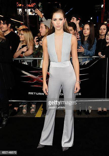 Actress Hermione Corfield attends the premiere of 'xXx Return of Xander Cage' at TCL Chinese Theatre IMAX on January 19 2017 in Hollywood California