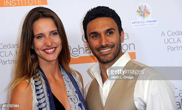 Actress Hermione Lynch and actor Ethan Rains arrive for the Artists For Trauma's 'Rebranding Disability' held at California Rehabilitation Institute...