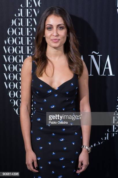 Actress Hiba Abouk attends a dinner hosted by Vogue for Victoria Beckham to celebrate the February issue of Vogue Magazine at Santo Mauro Hotel on...