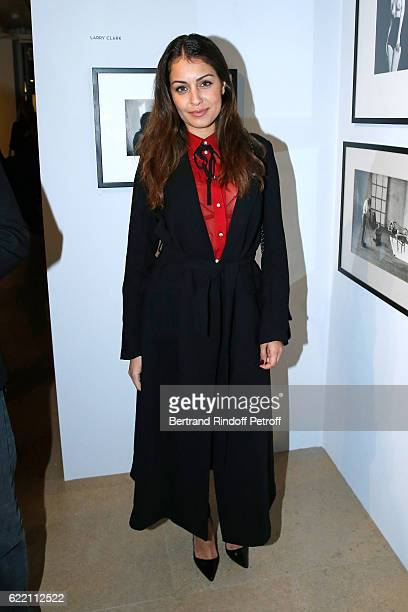 Actress Hiba Abouk attends the Carla Sozzani Photo Exhibition at Azzedine Alaia Gallery on November 9 2016 in Paris France