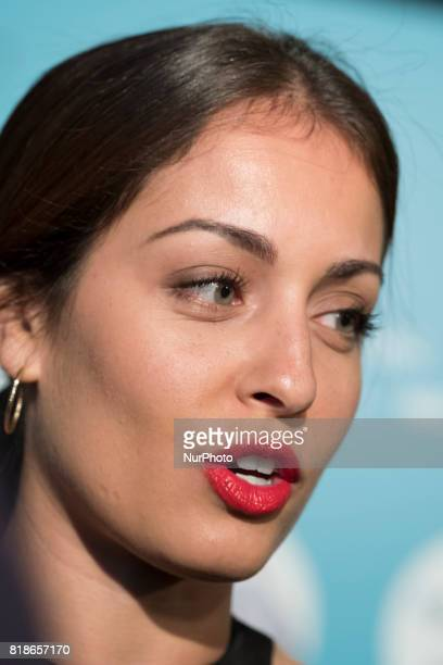 Actress Hiba Abouk attends the concert of Michel Camilo yTomatito at the Teatro Real in Madrid Spain July 18 2017